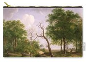 A Wooded River Landscape With Sportsmen In A Rowing Boat Carry-all Pouch