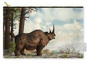 A Woolly Rhinoceros Trudges Carry-all Pouch by Daniel Eskridge