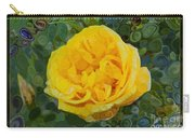 A Yellow Rose Abstract Painting Carry-all Pouch