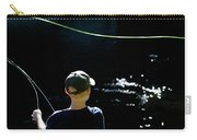 A Young Boy Fly Fishes At Gunpowder Carry-all Pouch