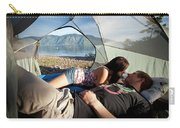 A Young Couple Camping Talk Carry-all Pouch