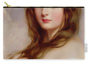 A Young Girl In A White Dress Carry-all Pouch by Richard Buckner