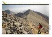 A Young Woman Hikes Borah Peak Carry-all Pouch