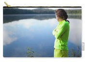 A Young Woman Looks Out Over Unna Lake Carry-all Pouch