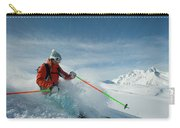 A Young Woman Skis The Backcountry Carry-all Pouch