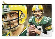 Aaron Rodgers Green Bay Packers Quarterback Artwork Carry-all Pouch