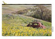 Abandoned Ford Buried In Wildflowers Carry-all Pouch