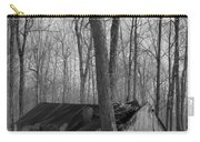 Abandoned Sugar Shack In Black And White Carry-all Pouch