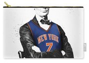 Abe Lincoln In A Carmelo Anthony New York Knicks Jersey Carry-all Pouch