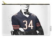 Abe Lincoln In A Walter Payton Chicago Bears Jersey Carry-all Pouch