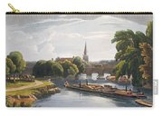 Abingdon Bridge And Church, Engraved Carry-all Pouch