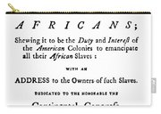 Abolitionist Tract, 1776 Carry-all Pouch