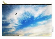 Above The Clouds - American Bald Eagle Art Painting Carry-all Pouch by Sharon Cummings