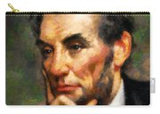 Abraham Lincoln - Abstract Realism Carry-all Pouch