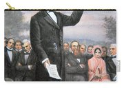 Abraham Lincoln Delivering The Gettysburg Address Carry-all Pouch by American School