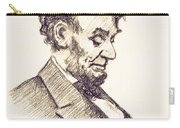 Abraham Lincoln Head Bowed  Drawing 1910 Carry-all Pouch