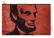 Abraham Lincoln License Plate Art Carry-all Pouch