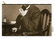 Abraham Lincoln Sitting At Desk Carry-all Pouch by Mathew Brady