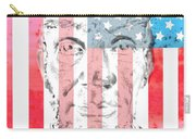 Abraham Lincoln Vintage American Flag Carry-all Pouch