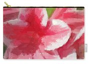 Abstract 106 Pink Painterly Flowers Carry-all Pouch