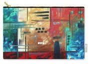 Abstract Art - Color Rush - Original Painting Madart Carry-all Pouch