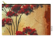 Abstract Art Colorful Original Landscape Painting Birds Aloft By Madart Carry-all Pouch