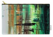 Abstract Art Colorful Original Painting Green Valley By Madart Carry-all Pouch