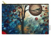 Abstract Art Contemporary Cat Bird Circle Of Life Collection Cat Perch By Madart Carry-all Pouch