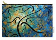 Abstract Art Gold Textured Original Tree Painting Peace And Desire By Madart Carry-all Pouch