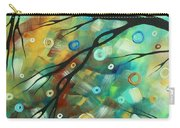 Abstract Art Landscape Circles Painting A Secret Place 2 By Madart Carry-all Pouch