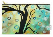 Abstract Art Landscape Circles Painting A Secret Place 3 By Madart Carry-all Pouch