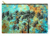 Abstract Art Landscape Metallic Gold Textured Painting Spring Blooms II By Madart Carry-all Pouch