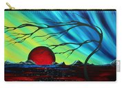 Abstract Art Landscape Seascape Bold Colorful Artwork Serenity By Madart Carry-all Pouch