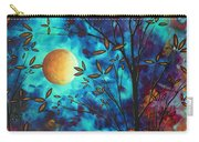 Abstract Art Landscape Tree Blossoms Sea Moon Painting Visionary Delight By Madart Carry-all Pouch