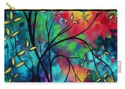 Abstract Art Landscape Tree Blossoms Sea Painting Under The Light Of The Moon II By Madart Carry-all Pouch