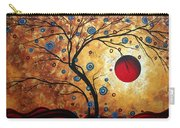 Abstract Art Landscape Tree Metallic Gold Texture Painting Free As The Wind By Madart Carry-all Pouch
