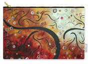 Abstract Art Original Circle Landscape By Madart Carry-all Pouch