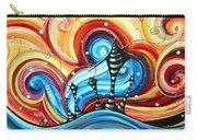 Abstract Art Original Colorful Funky House Painting Home On The Hill By Madart Carry-all Pouch