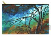 Abstract Art Original Colorful Painting Mystery Of The Moon By Madart Carry-all Pouch