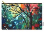 Abstract Art Original Colorful Painting Spring Blossoms By Madart Carry-all Pouch