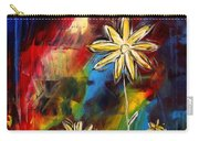 Abstract Art Original Daisy Flower Painting Visual Feast By Madart Carry-all Pouch