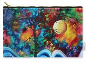 Abstract Art Original Enormous Bold Painting Essence Of The Earth I By Madart Carry-all Pouch by Megan Duncanson