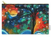 Abstract Art Original Landscape Colorful Painting First Snow Fall By Madart Carry-all Pouch