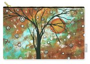 Abstract Art Original Landscape Painting Bold Circle Of Life Design Autumns Eve By Madart Carry-all Pouch