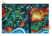 Abstract Art Original Landscape Painting Bold Circle Of Life Design Dance The Night Away By Madart Carry-all Pouch