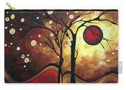 Abstract Art Original Landscape Painting Catch The Rising Sun By Madart Carry-all Pouch