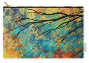 Abstract Art Original Landscape Painting Go Forth I By Madart Studios Carry-all Pouch
