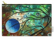 Abstract Art Original Landscape Painting Mint Julep By Madart Carry-all Pouch