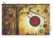 Abstract Art Original Metallic Gold Landscape Painting Freedom Of Joy By Madart Carry-all Pouch