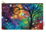 Abstract Art Original Painting Winter Cold By Madart Carry-all Pouch